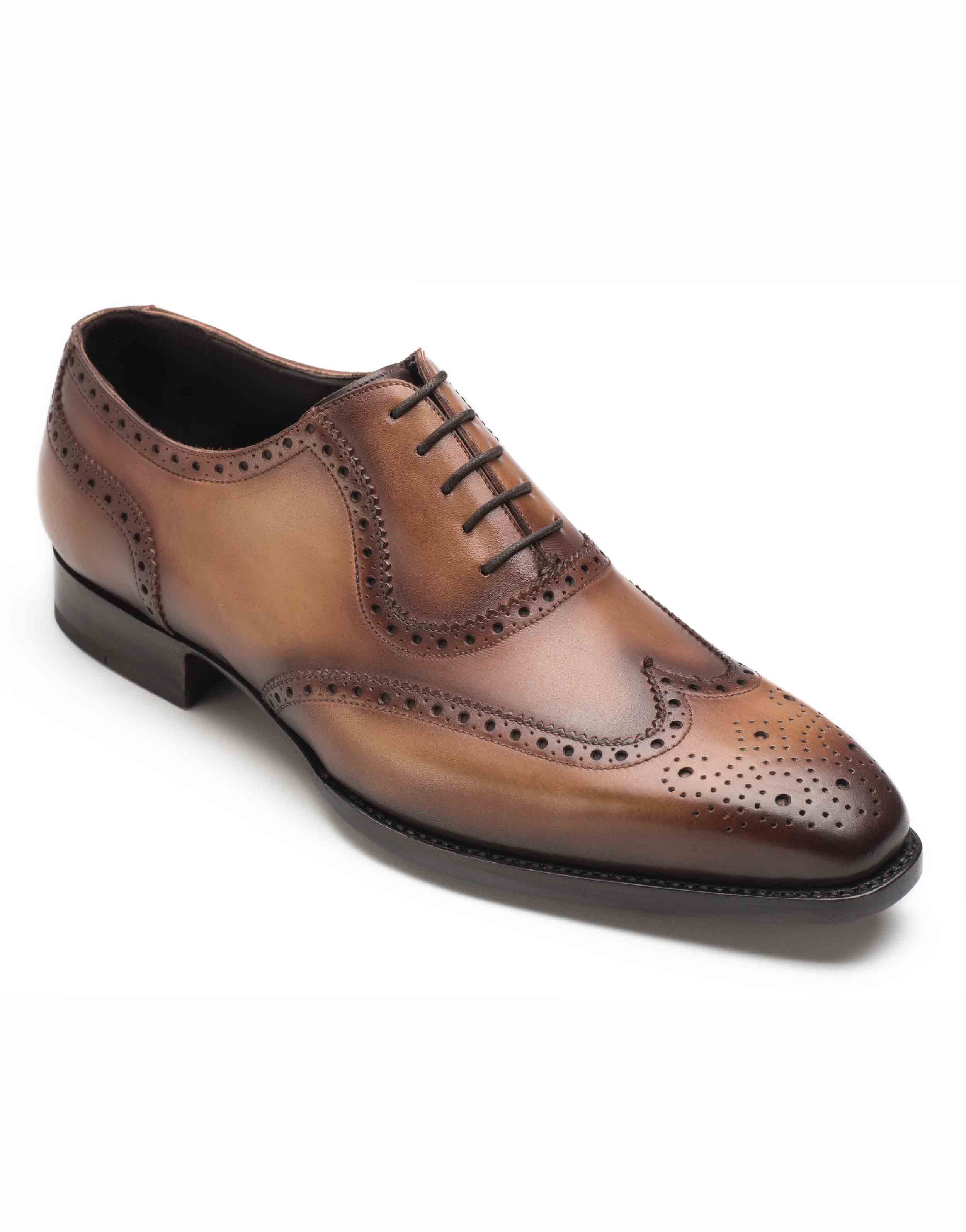 COGNAC BROGUE OXFORD SHOE2