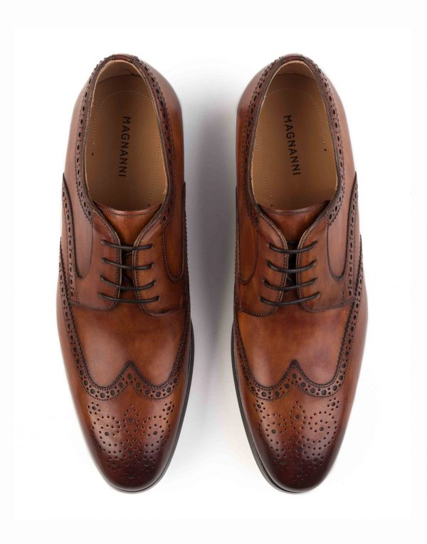 COGNAC DERBY BROGUE SHOE4