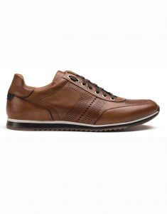 COGNAC PERFORATED SNEAKERS1