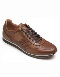 COGNAC PERFORATED SNEAKERS2