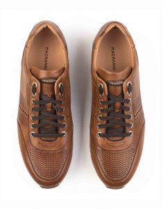 COGNAC PERFORATED SNEAKERS4