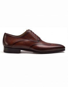 COGNAC WINGTIP MEDALLION OXFORD SHOE1