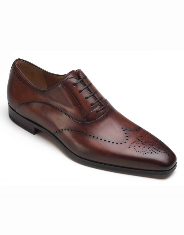 COGNAC WINGTIP MEDALLION OXFORD SHOE2