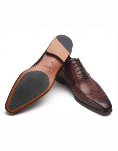COGNAC WINGTIP MEDALLION OXFORD SHOE3