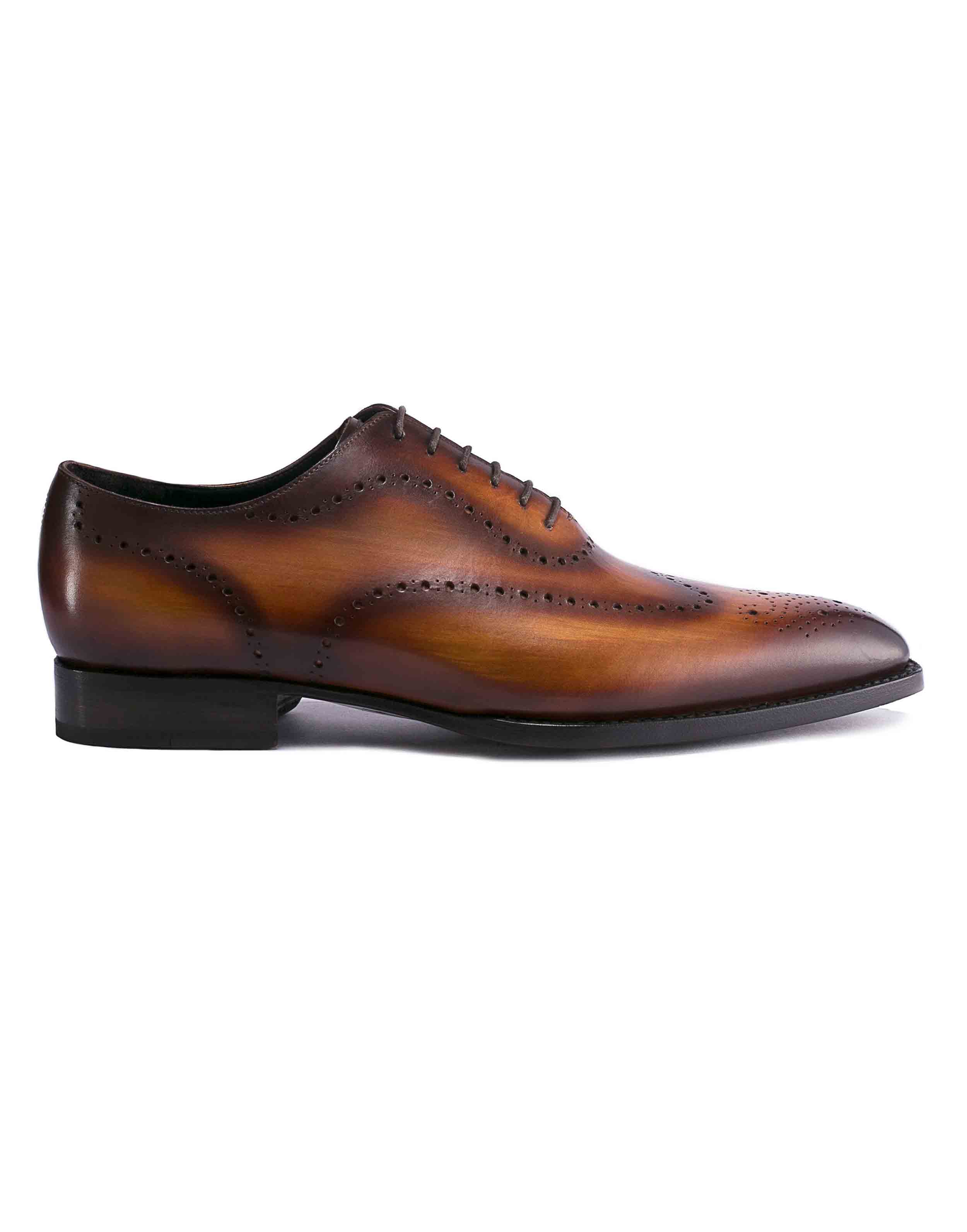 DARK BROWN PATINA BROGUE OXFORD1