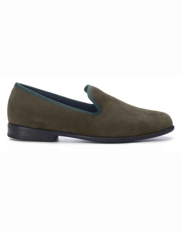 GREEN SUEDE LOAFERS1