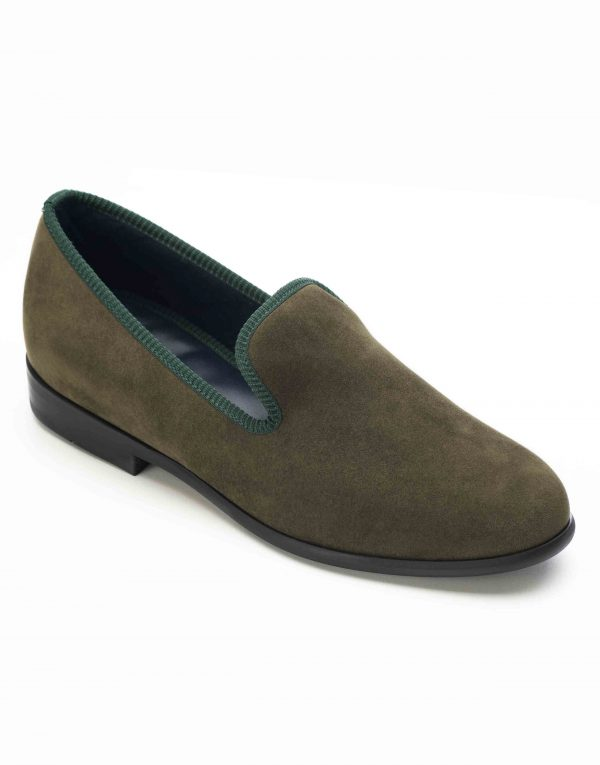 GREEN SUEDE LOAFERS2
