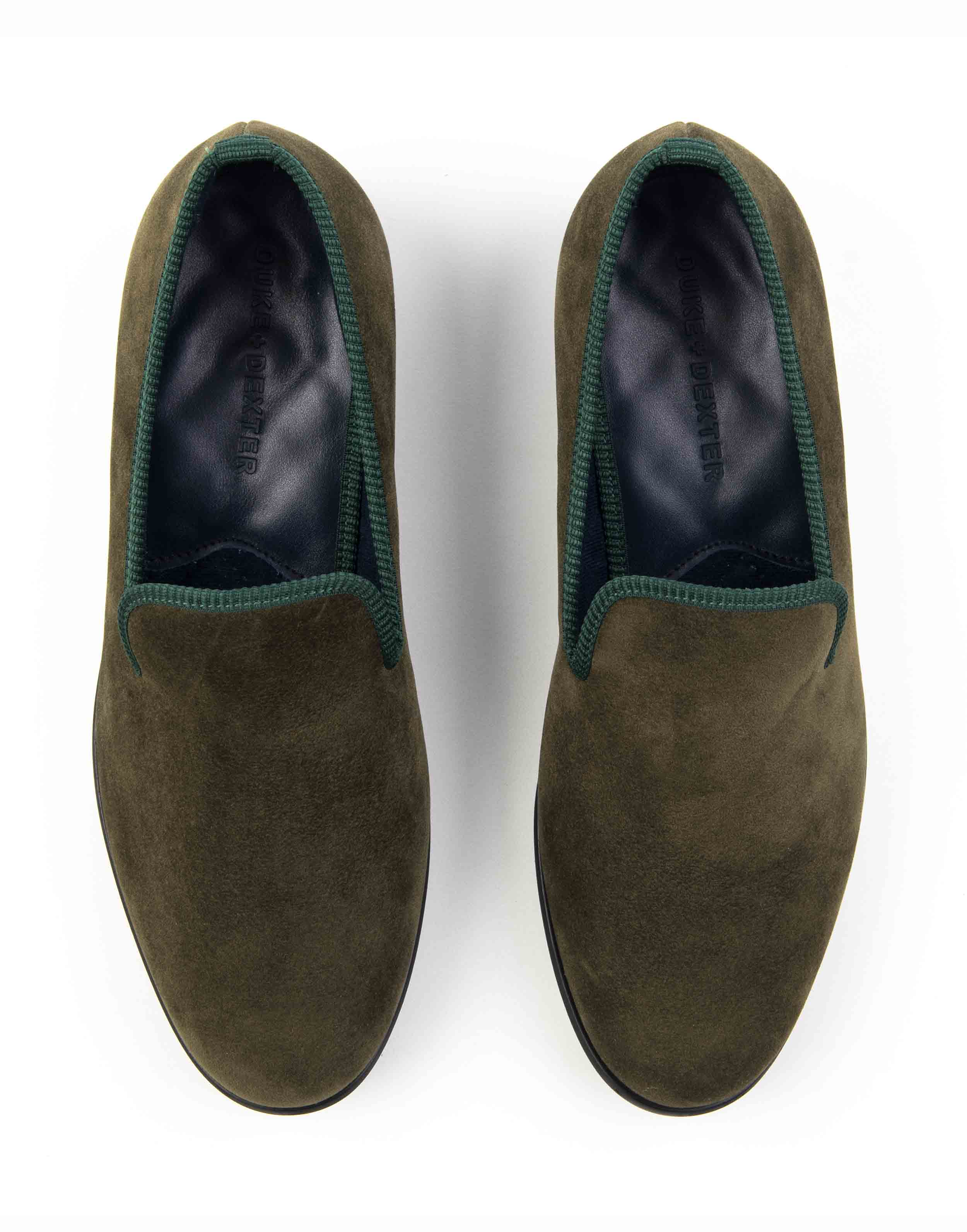 GREEN SUEDE LOAFERS4