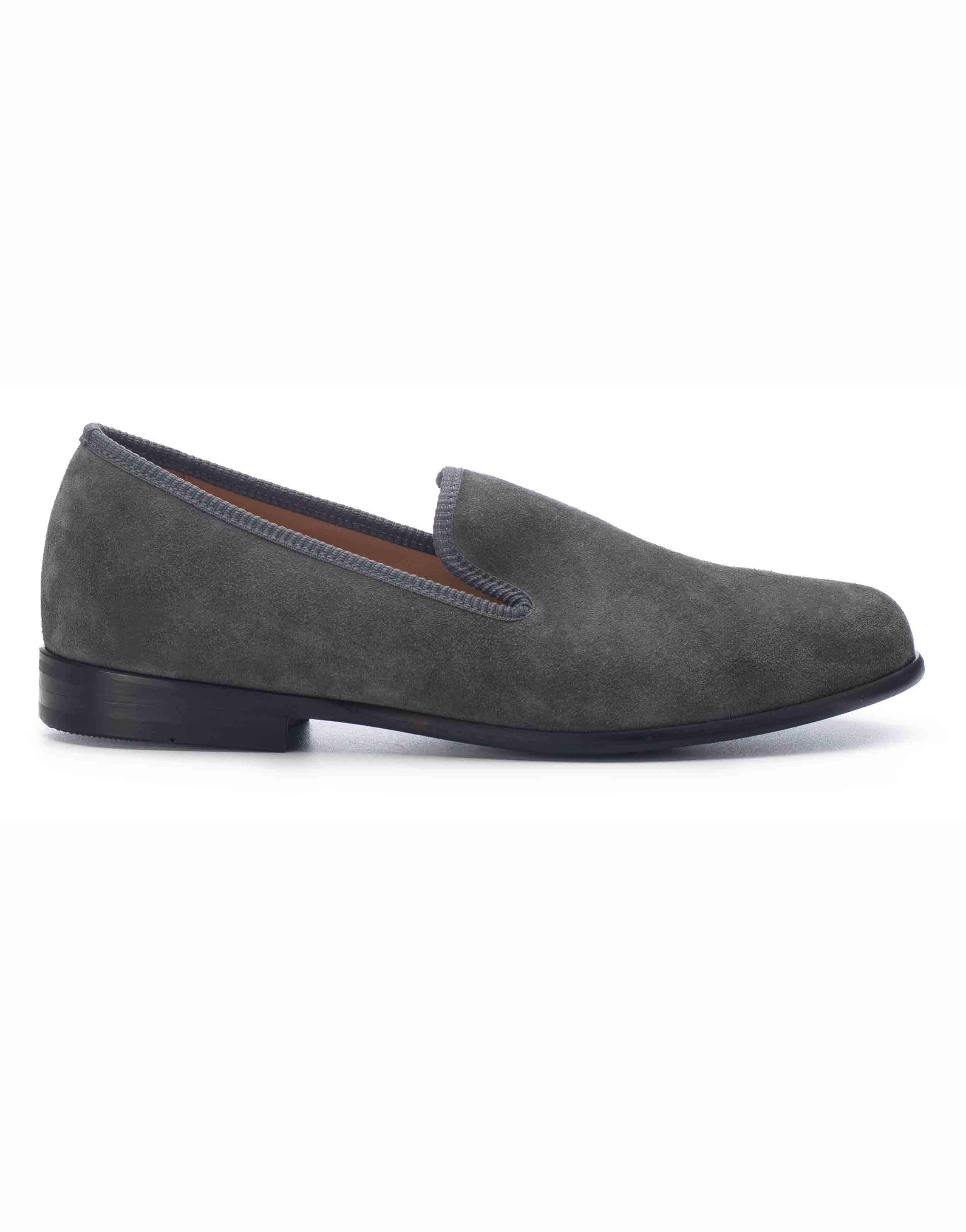 GREY SUEDE LOAFERS1