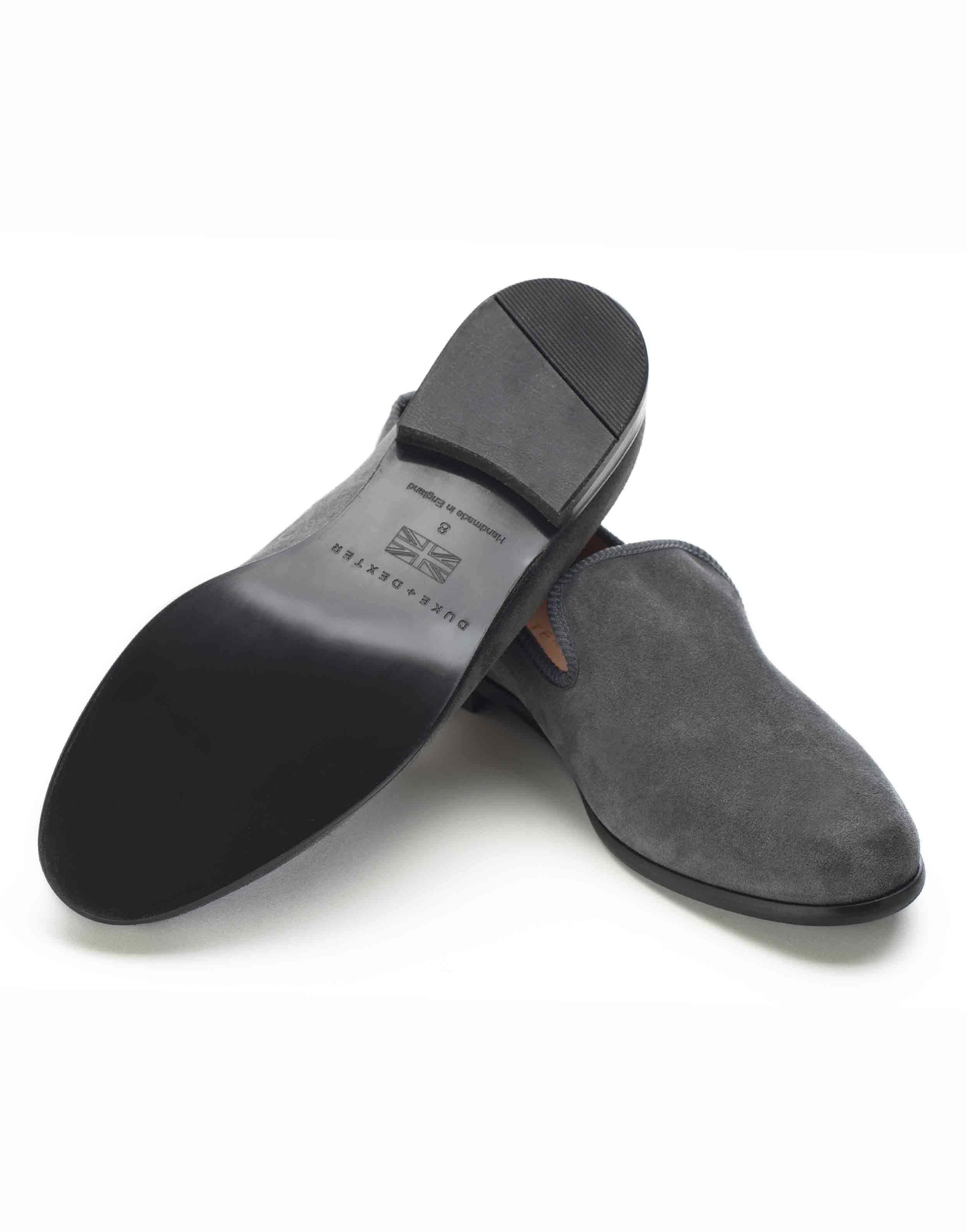 GREY SUEDE LOAFERS3