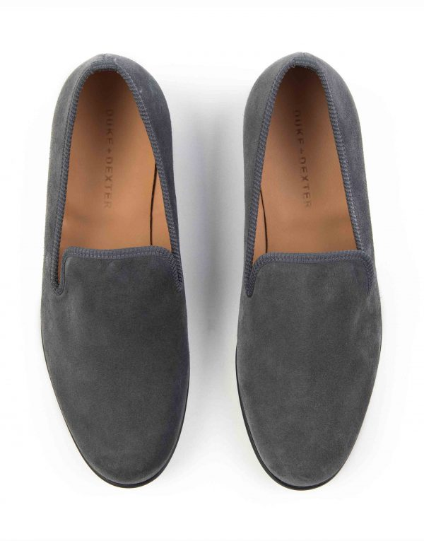 GREY SUEDE LOAFERS4