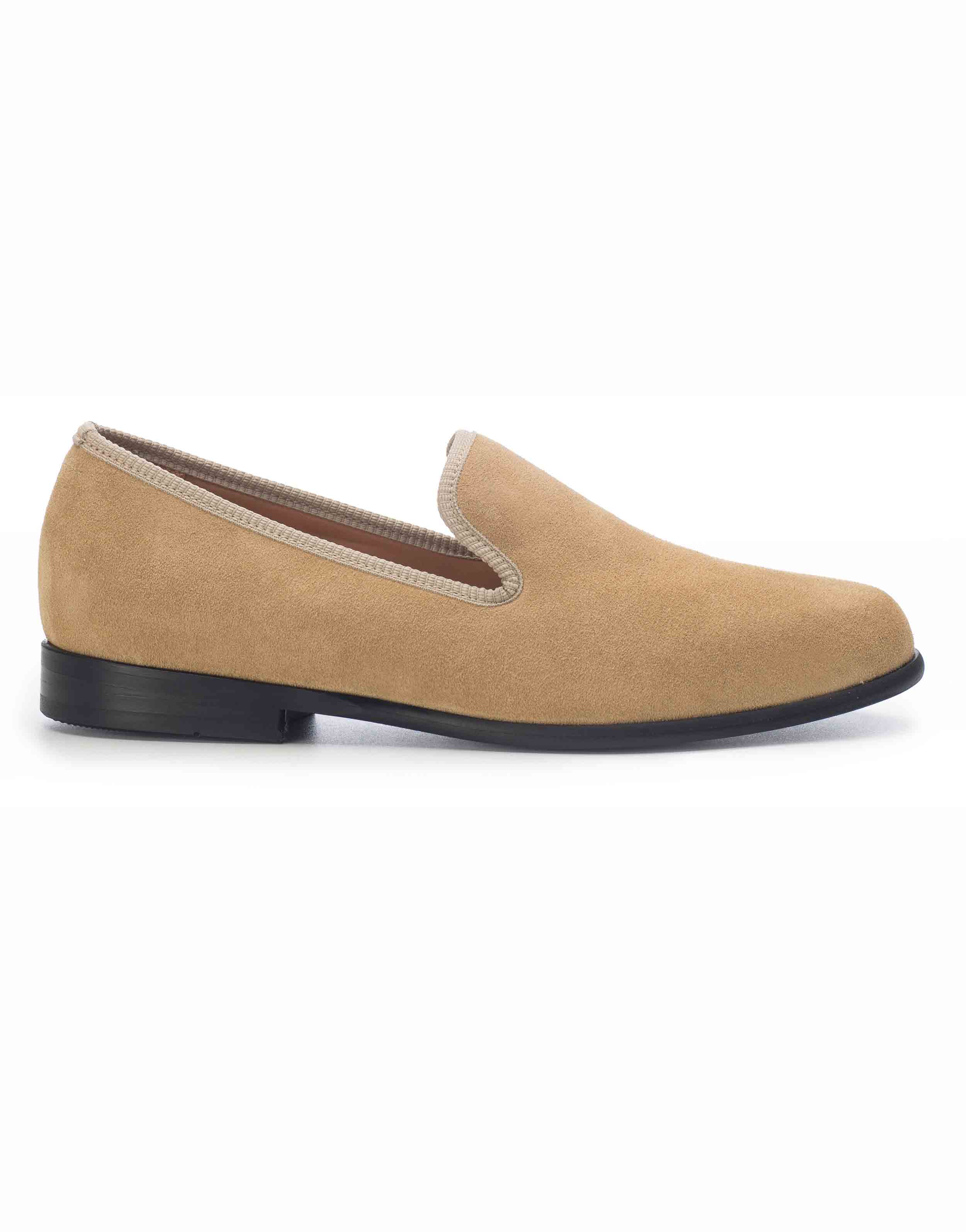LIGHT TAN SUEDE LOAFERS1