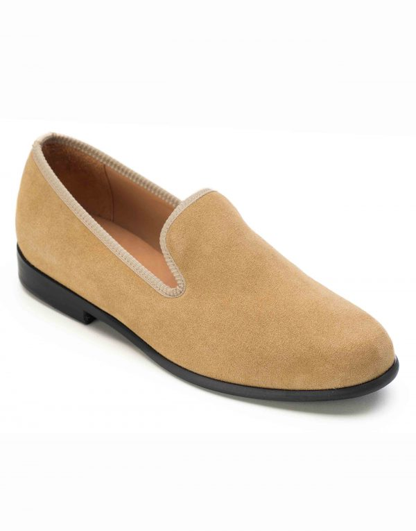LIGHT TAN SUEDE LOAFERS2