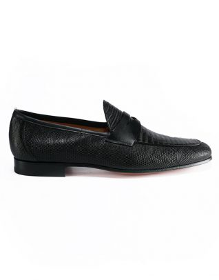 Magnanni Black Penny Loafer