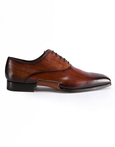 Magnanni Medallion Toe Lace Up Cognac Oxford