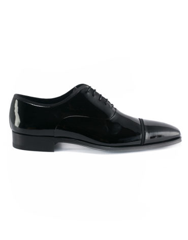 Magnanni Black Patent Leather Lace Up Oxfords