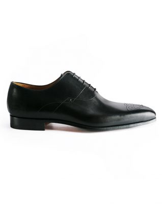 Magnanni Medallion Toe Wholecut Black Oxford