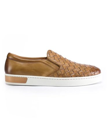 Magnanni Taupe Slip On Woven Sneakers