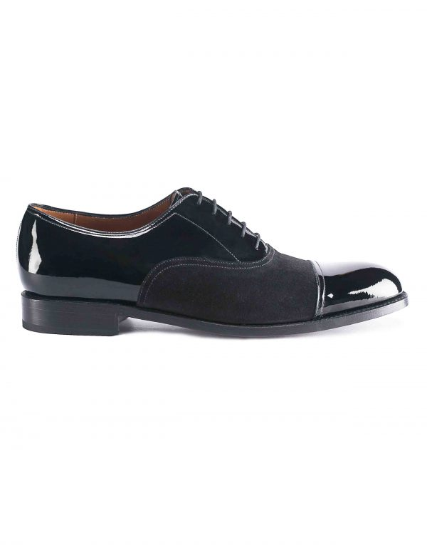PATENT LEATHER CAPTOE SUEDE OXFORD1
