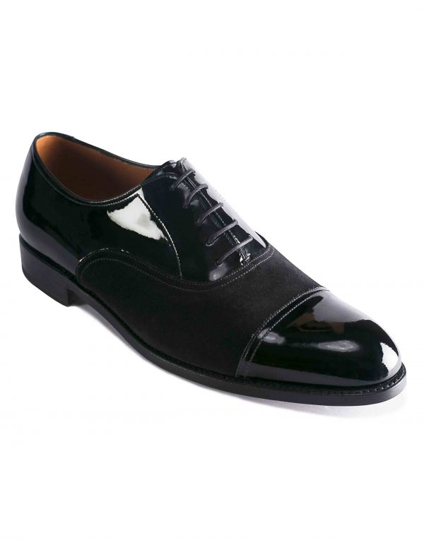 PATENT LEATHER CAPTOE SUEDE OXFORD2