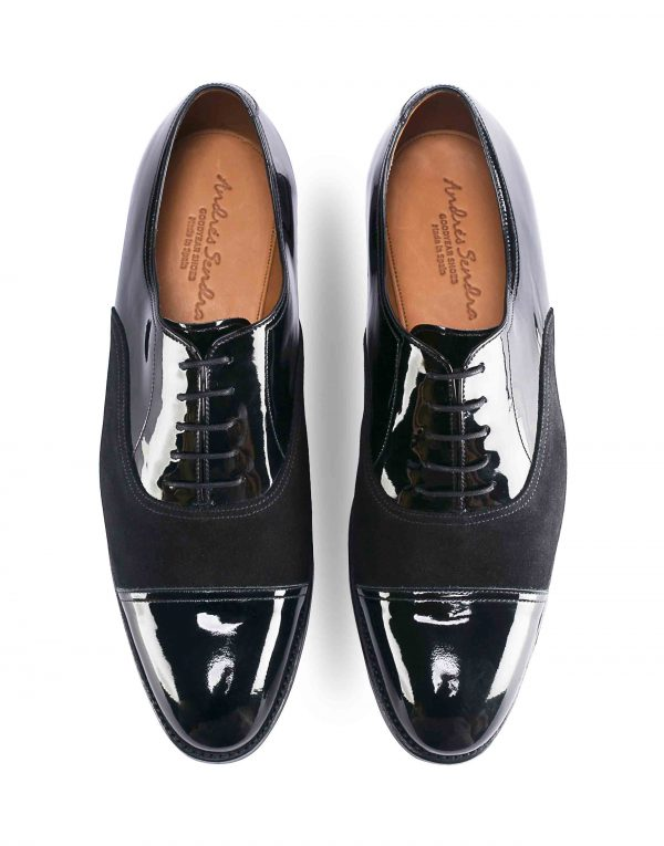 PATENT LEATHER CAPTOE SUEDE OXFORD4
