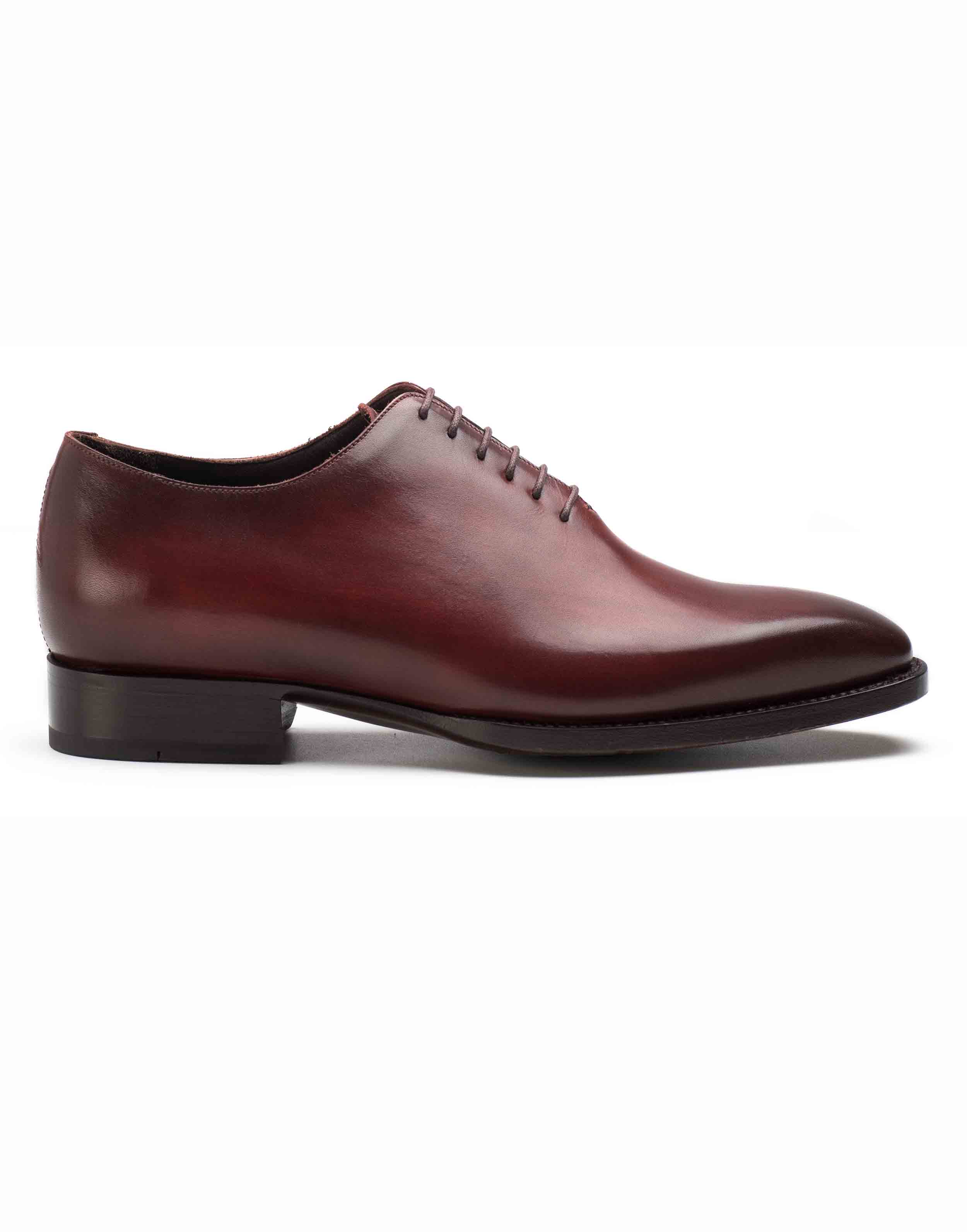 PLAIN TOE BURGUNDY OXFORD SHOE1