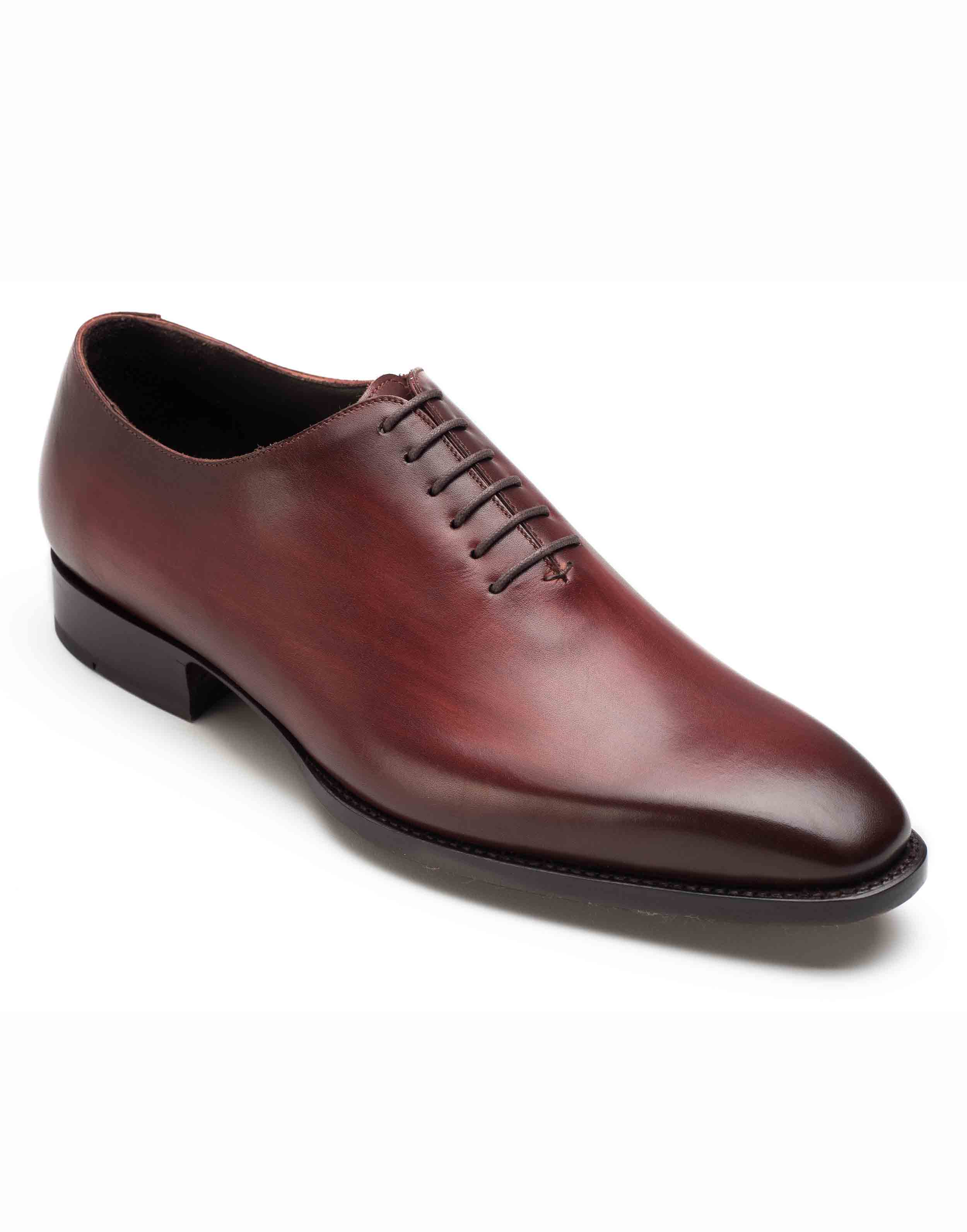 PLAIN TOE BURGUNDY OXFORD SHOE2