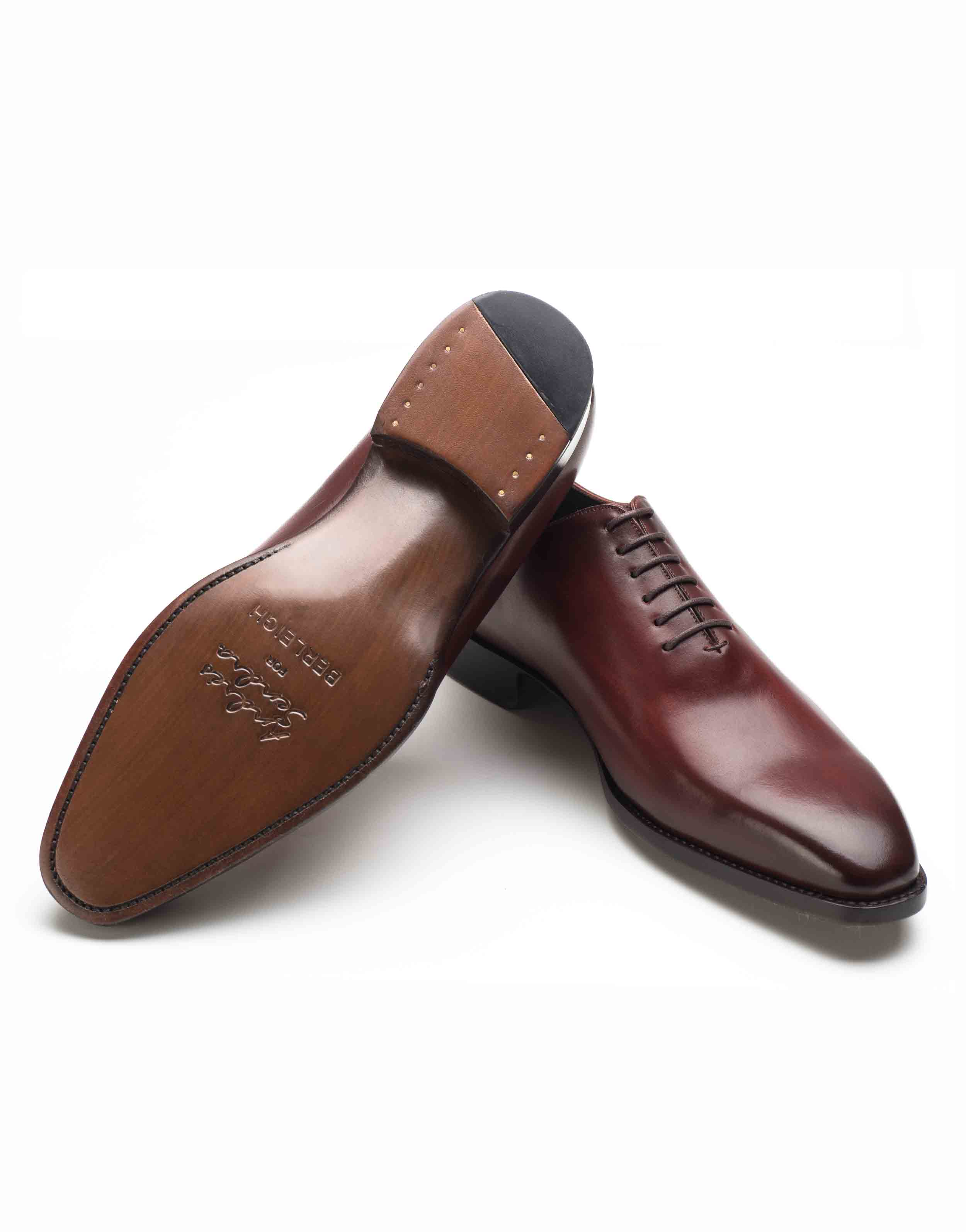 PLAIN TOE BURGUNDY OXFORD SHOE3
