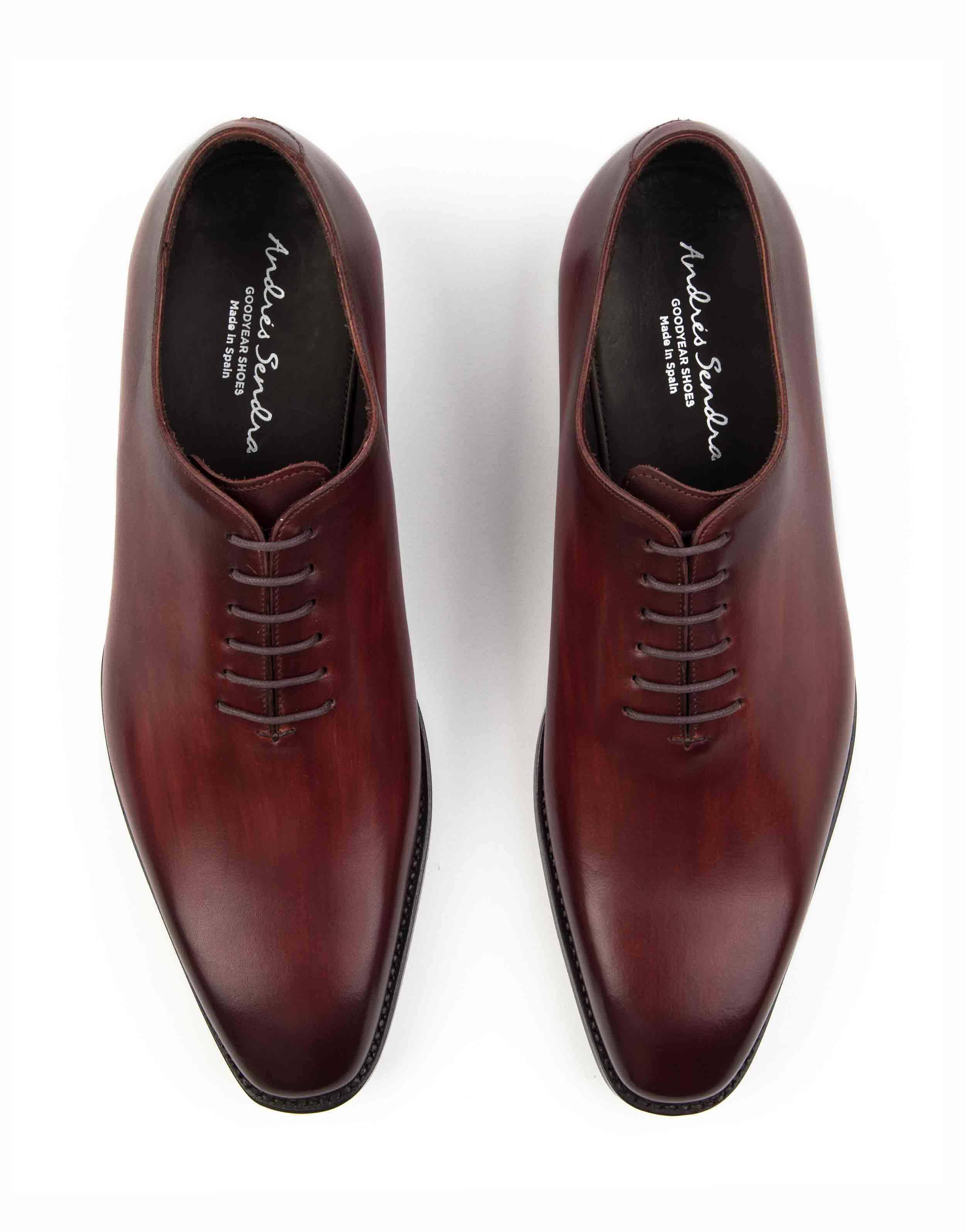 PLAIN TOE BURGUNDY OXFORD SHOE4