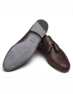 WOVEN BROWN TASSEL LOAFER3