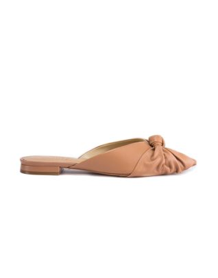 Schutz Brown Bown Accent Mules