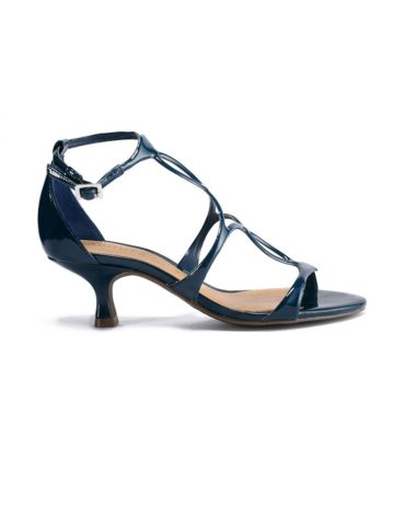 Schutz Low- Ankle Blue Strapup Stilettos
