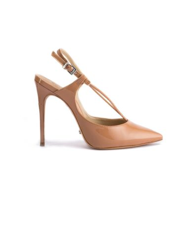 Schutz Patent Leather Slingback Beige Pumps