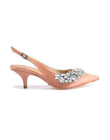 Schutz Crystal Slingback Tan Pumps