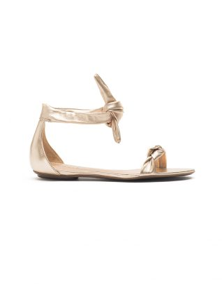 Schutz Leather Ankle Cuff Flats