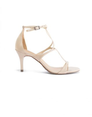 Schutz Low-Ankle Light Pink Strapup Stilettos