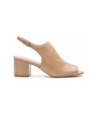 Schutz Slingback Tan Block Heel Sandals