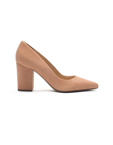 Schutz Toasted Nut Block Heel Pumps