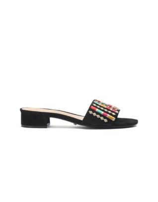 Schutz Black Slide-In Sandals