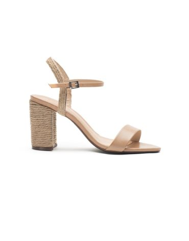 Schutz Tan Block Heel Sandals