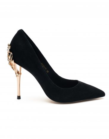 Heel _ Buckle London-Shoes-A012-11 -Pumps-Black-1