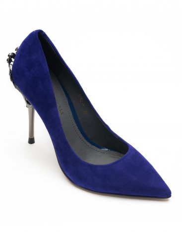 Heel _ Buckle London-Shoes-A012-11 -Pumps-Blue-2