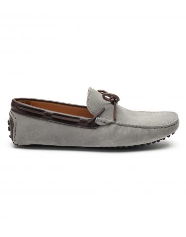 Heel _ Buckle London -Shoes-HF101-1-Drivers-Grey swede with Lace-1