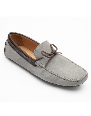 Heel _ Buckle London -Shoes-HF101-1-Drivers-Grey swede with Lace-2