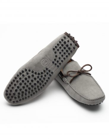 Heel _ Buckle London -Shoes-HF101-1-Drivers-Grey swede with Lace-3