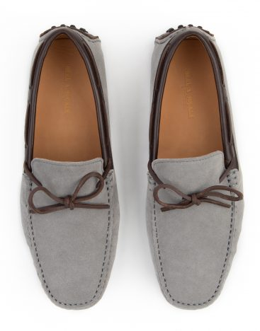 Heel _ Buckle London -Shoes-HF101-1-Drivers-Grey swede with Lace-4