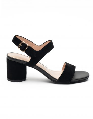 Heel _ Buckle London-Shoes-LT3906-6-Open Block Heels-Black-1