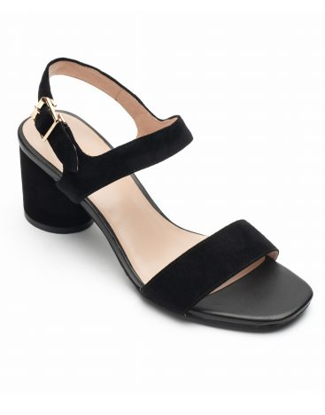 Heel _ Buckle London-Shoes-LT3906-6-Open Block Heels-Black-2