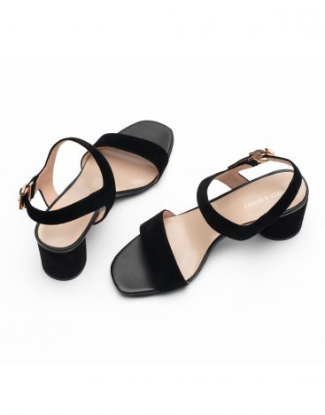 Heel _ Buckle London-Shoes-LT3906-6-Open Block Heels-Black-4