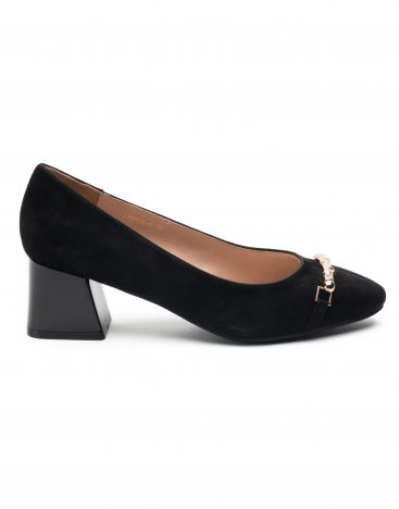 Heel _ Buckle London-Shoes-LT8133-3-Closed block heels-Black-1